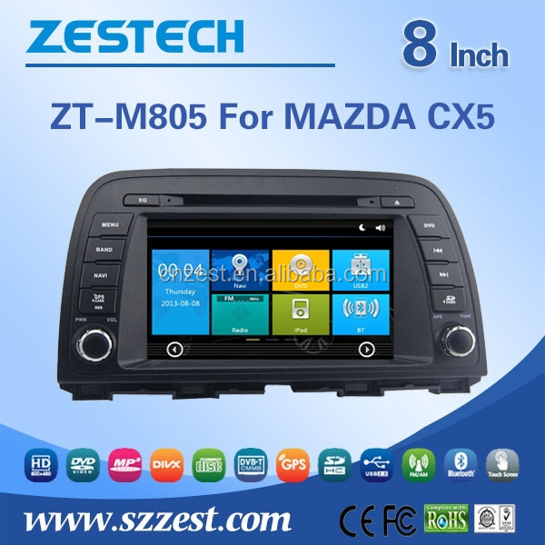 multimedia navigation system for Mazda CX 5 car audio player with buletooth car gps am/fm RDS Radio function 8 inch