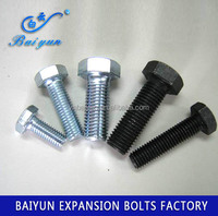 black carbon steel Fasteners Hex Bolts m45 double hex bolt gr8.8 hex bolts