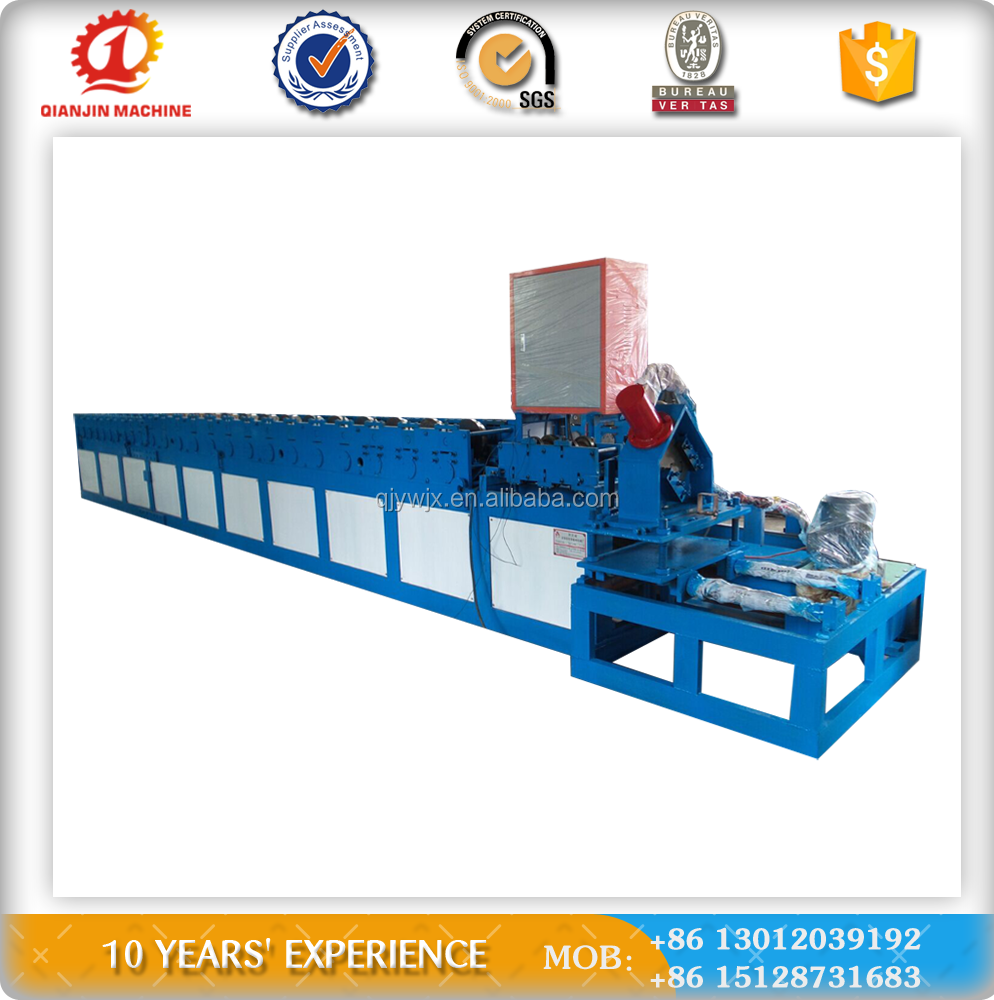Galvanized steel cold door fame making prodction line make machine