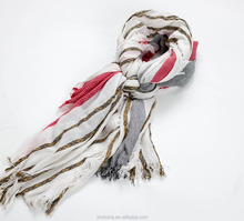 In-Choice Soft and Elegant Multistripe Printed Woman Scarf Jacquard Scarf
