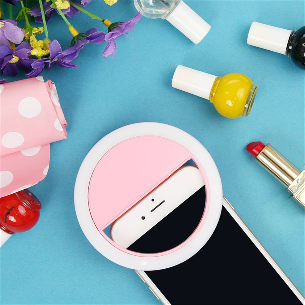 Led Universal Circle Selfie Ring Light For Mobile Cell Phone Mobile Selfie Ring