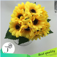 High Quality Real Touch Artificial Small daisy bouquet ,artificial flower for cemetery occasions