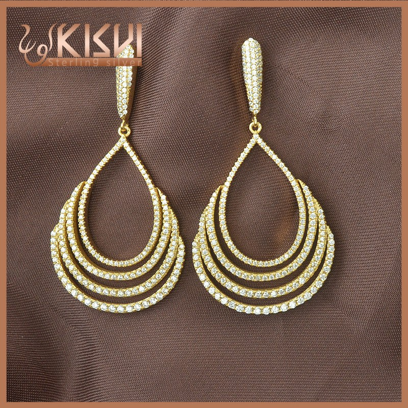 925 new model fashion gold plating earrings silver jewelry for sale