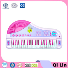 plastic electric musical keyboard piano toy with microphone