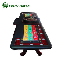 Big Deluxe Real Wooden gambling casino roulette wheel table