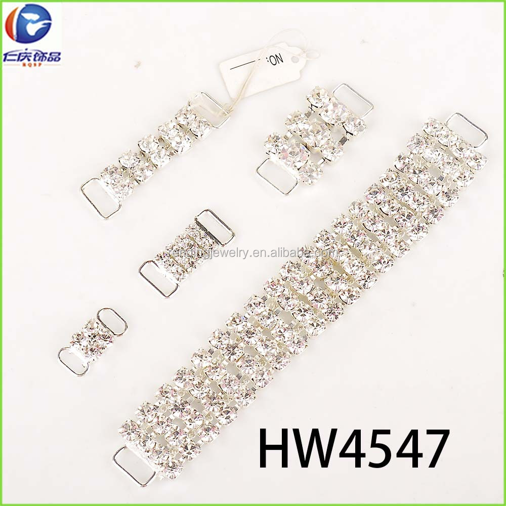 wholesale crystal rhinestone connector for mini bikini buckles