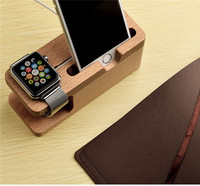 Elegant wood crafts cell phone holder use for apple watch/for iphone 6