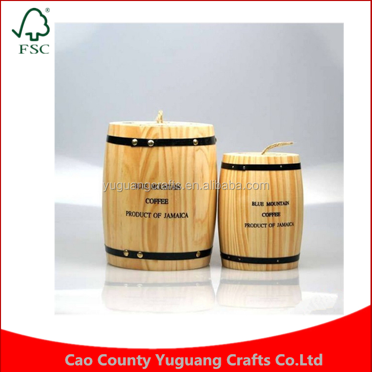 YAMI oak preservation medium and small three sealed cans of coffee beans wooden barrel