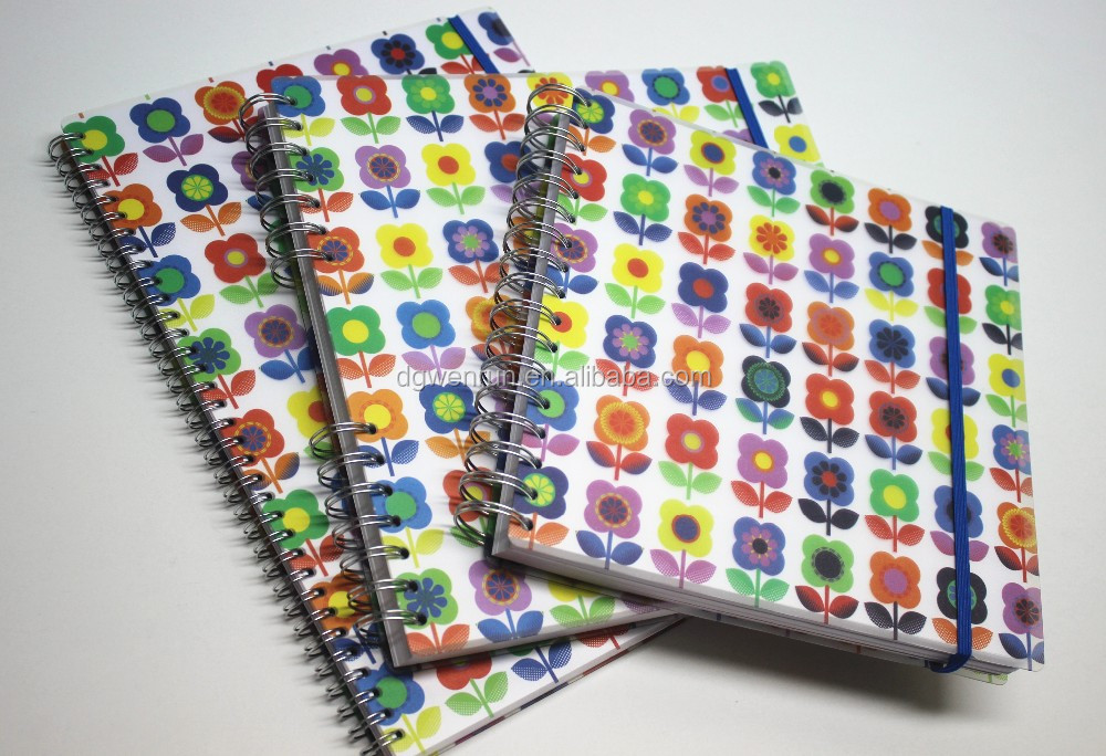 Factory supply paper/pvc/pp coil notebook for diary/organizer/planner/composition