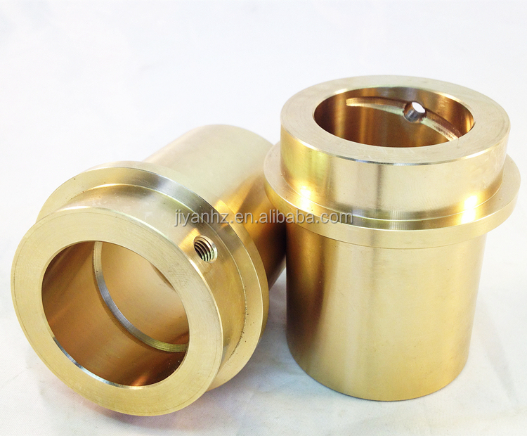 CNC machining precision small brass metal shaft sleeve