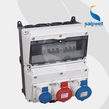 Saip/Saipwell Plastic Industrial power Combination Socket Box Distribution Boxes electrical Industrial socket & plug