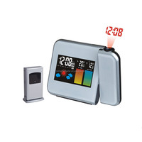 Wireless Color Weather Forecast Clock RF 433MHz Remote Weather Stations