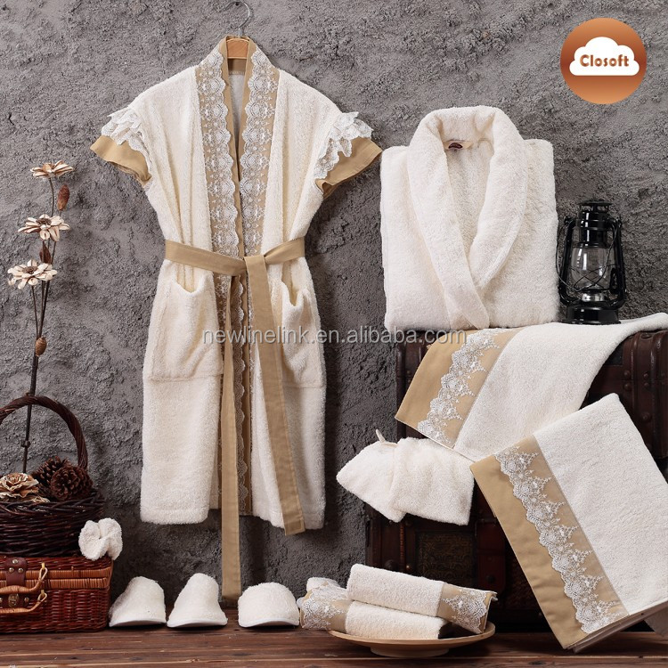 robe and towel set lady spa sleeveless bathrobe with sex lace