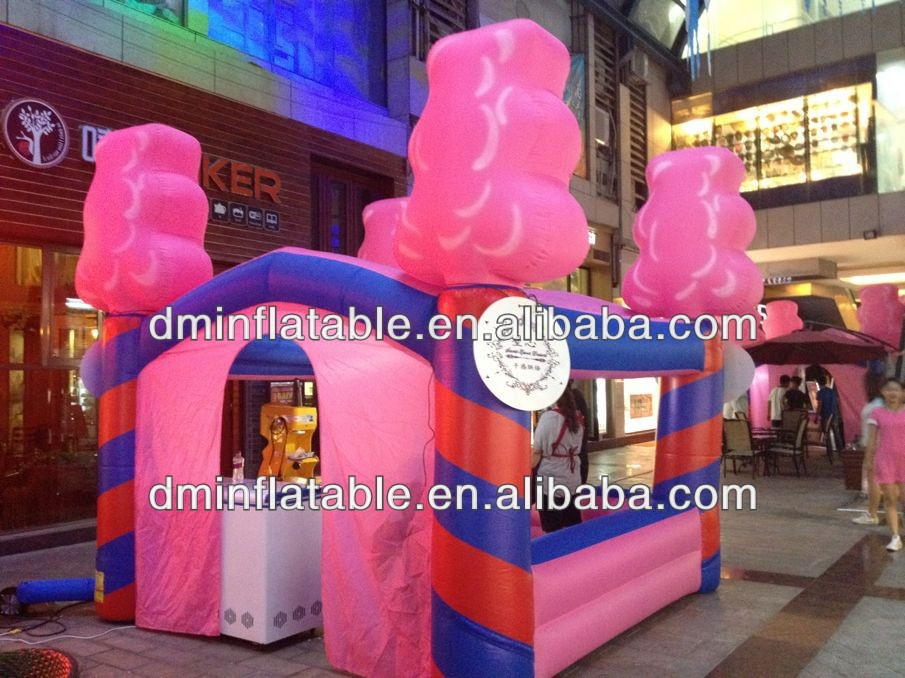 2014 new large airblown inflatable tent/ pink tent