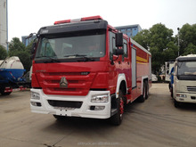HOWO 8*2 Fire truck water tank 12000L red colour fire fighting truck