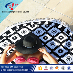 Trade assurance sale well and good absorbent turkish round beach towel