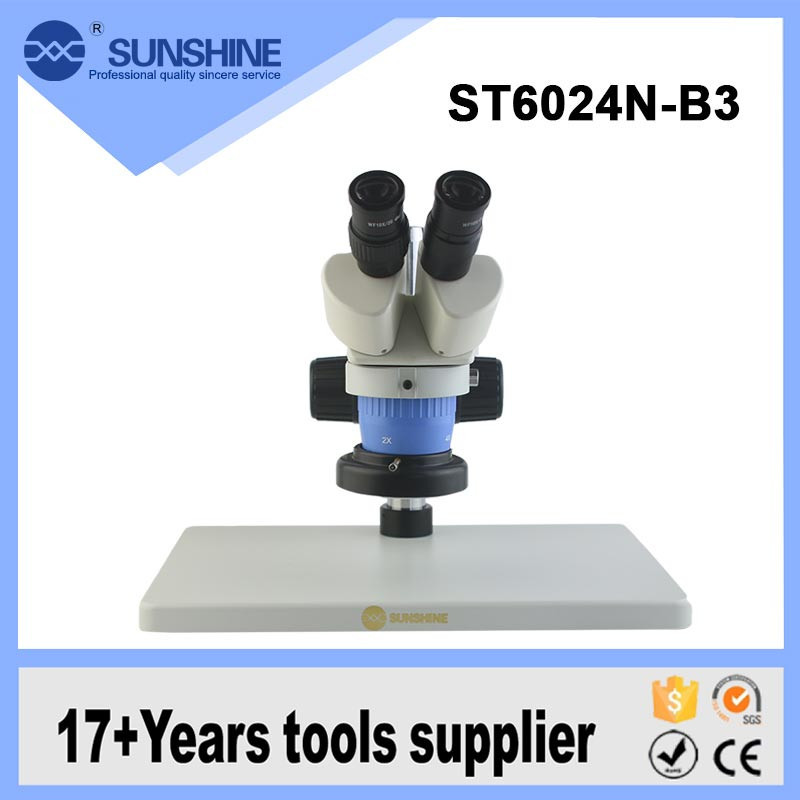 SUNSHINE Portable Led Light Binocular Microscope For Pcb Inspection