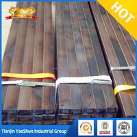 black welded or seamless square steel pipe black iron square tube