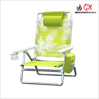 Newest pvc fabric for beach chair/nylon fabric double folding beach towel lounge chair cover pocket