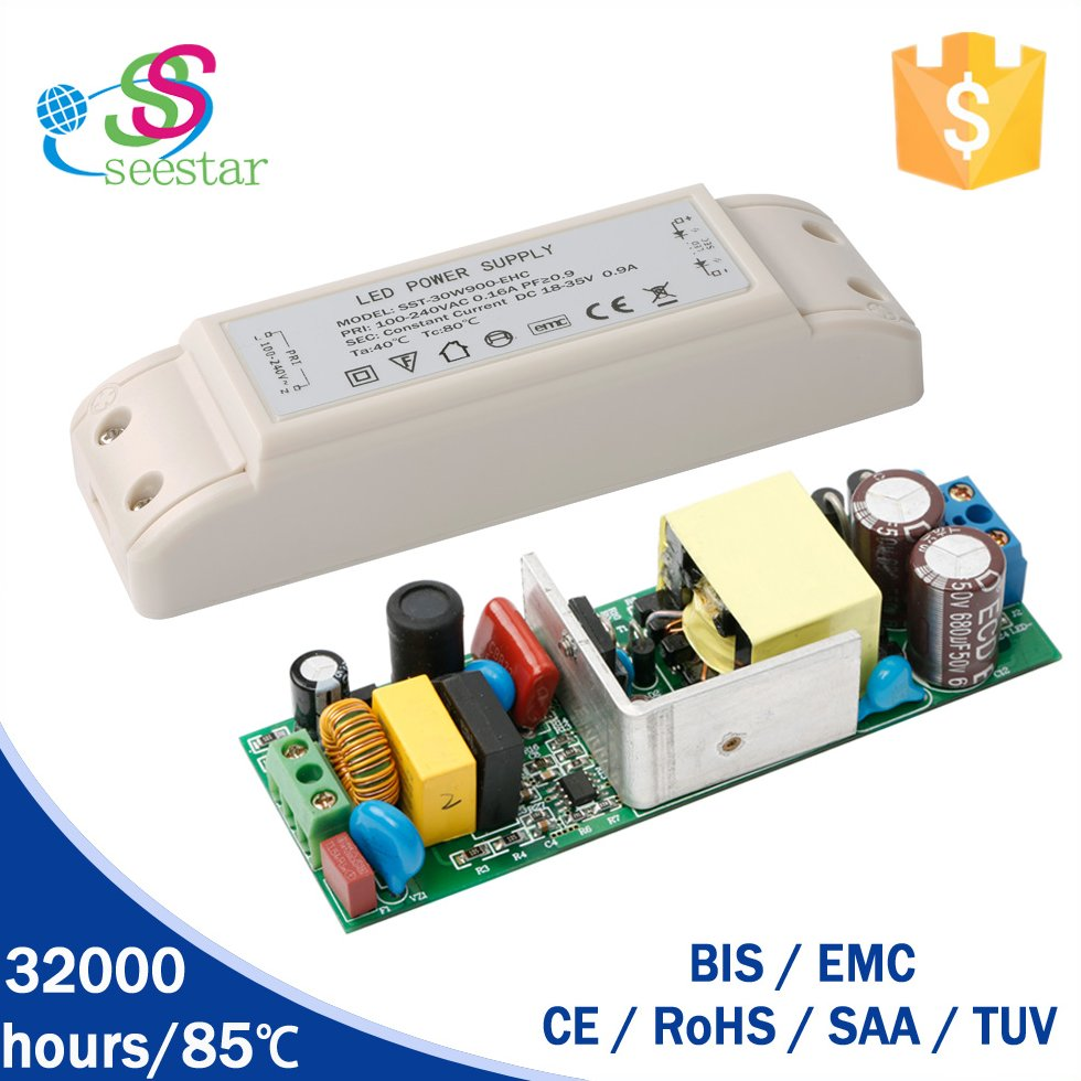 50W Constant Current LED Driver 18-35V 1500ma Panel Light with TUV CE 4KV surge protection