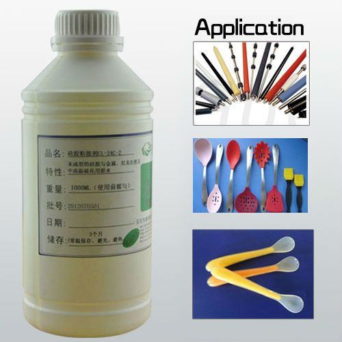 clear silicone Heat curing silicone adhesive solvent based acrylic adhesive