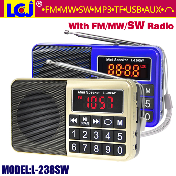 L-238SW portable mini usb am fm mw sw radio