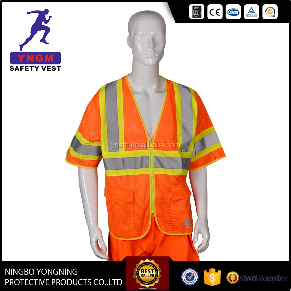 EN20471 ANSI High Reflective Safety Clothing For Work
