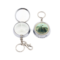 Souvenir Round Shape Metal Keychains With Pill Box