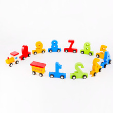 digital train toy wood letter train for preschool children
