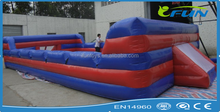 PVC inflatable water soap football pitch/ football field / Outdoor Sport Games inflatable football