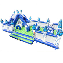 15m Castle World giant inflatable Playground/ fun city large inflatable amusement park / big bouncy castle for kids