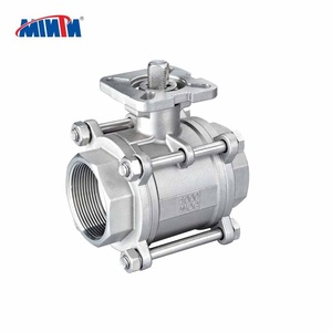 High Platform Stainless steel 304 316 manual BSP NPT BSPT threaded 3pc ball valve