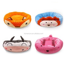 Soft Cotton Cartoon Rounded Shaped Removeable Mat Pet Cat Dog Sofa Bed