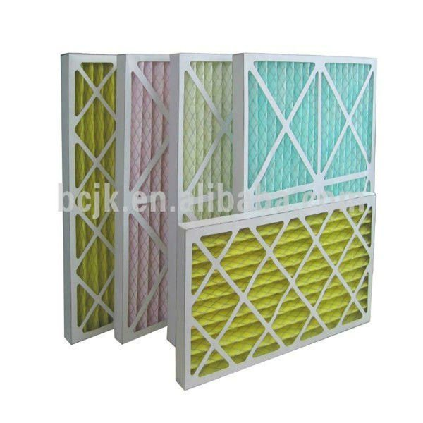 Foldaway Paper Frame Filter Air Filter with Cardboard