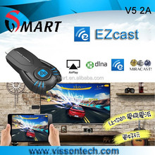 Visson smart ezcast V52A smart tv stick support DLNA Miracast better than android tv box vsmart display ezcast V5ii