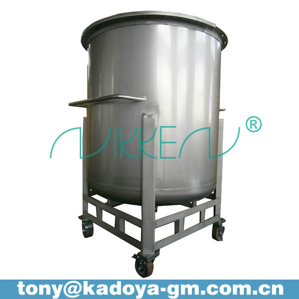 1000L stainless steel pharmaceutical storage vessel