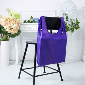 Recycled eco-friendly water-resistant folding polyester nylon shopping bag portable reusable bags