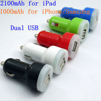 Dual USB Car Charger for iPad 4/Samsung I9500 Galaxy S4
