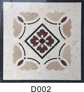Marble Medallion with Waterjet, waterjet marble pattern floor