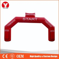 Inflatable arch, hot sell Cheap promotion finish line inflatable arch