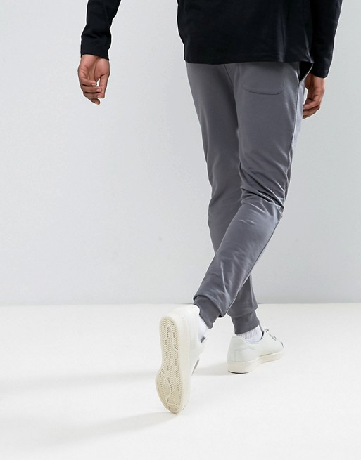 KY wholesale Drawstring waistband Side pockets Fitted cuffs Extreme Super Skinny grey men jogger pants