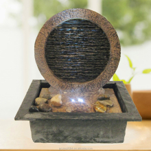 tabletop slate rockery indoor water fountain for home
