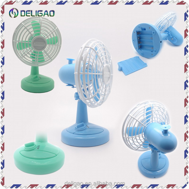 Battery operate or USB desktop air conditioner oscillating fan