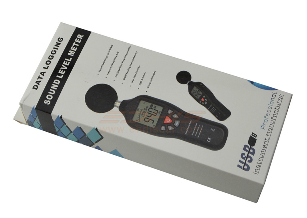 30-130dB Portable Handheld LCD Display Digital Sound Level Meter Noise Tester