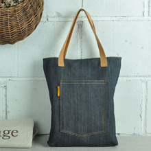 2015New fashion discount women men denim jeans tote bag shoulder bag