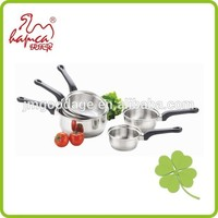 Hot selling Set of 5 Stainless Steel Sauce Pan, Cooking pot Milk Pot Without Lid