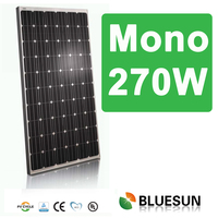 Best price 270w monocrystalline solar panel 60 cells with ISO/CE/TUV/UL certificates
