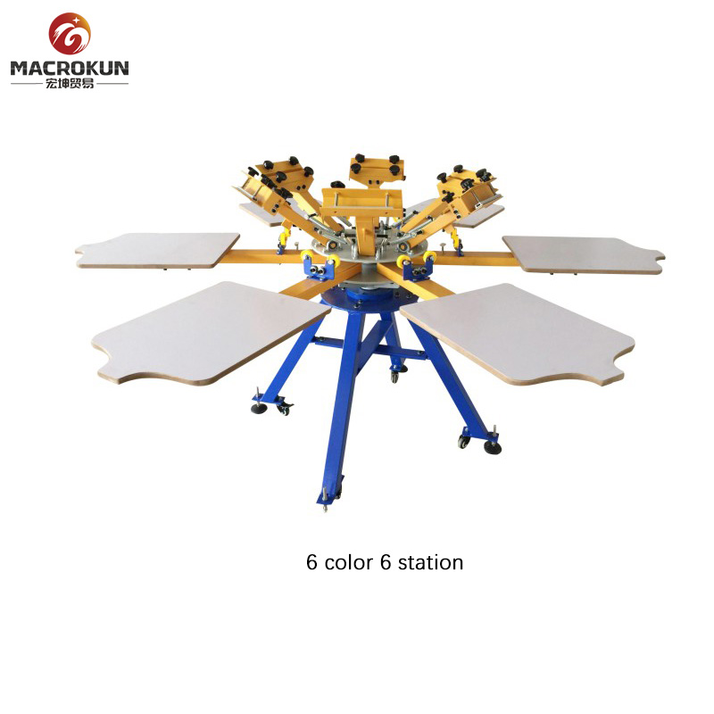 T-Shirt 4 Color 4 Station Screen Printing Machine for Sale