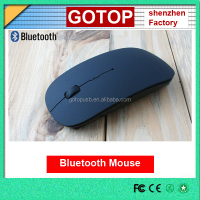 cheap super slim 2.4GHz wireless bluetooth mouse mini ultrathin USB optical mouse gift for PC