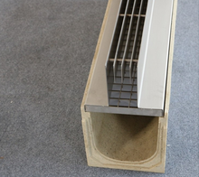 VHBEST polymer linear concerte drainage with steel grating cover or metal slot drain cover